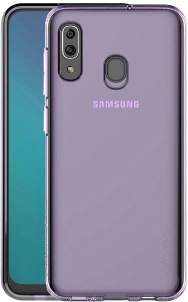 Клип-кейс Araree, Galaxy A20s A cover Purple (GP-FPA207KDAER)