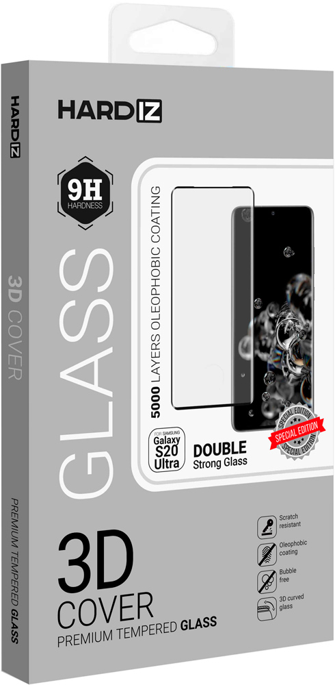 Стекло защитное Hardiz Samsung Galaxy S20 Ultra комплект 360 + аппликатор фото