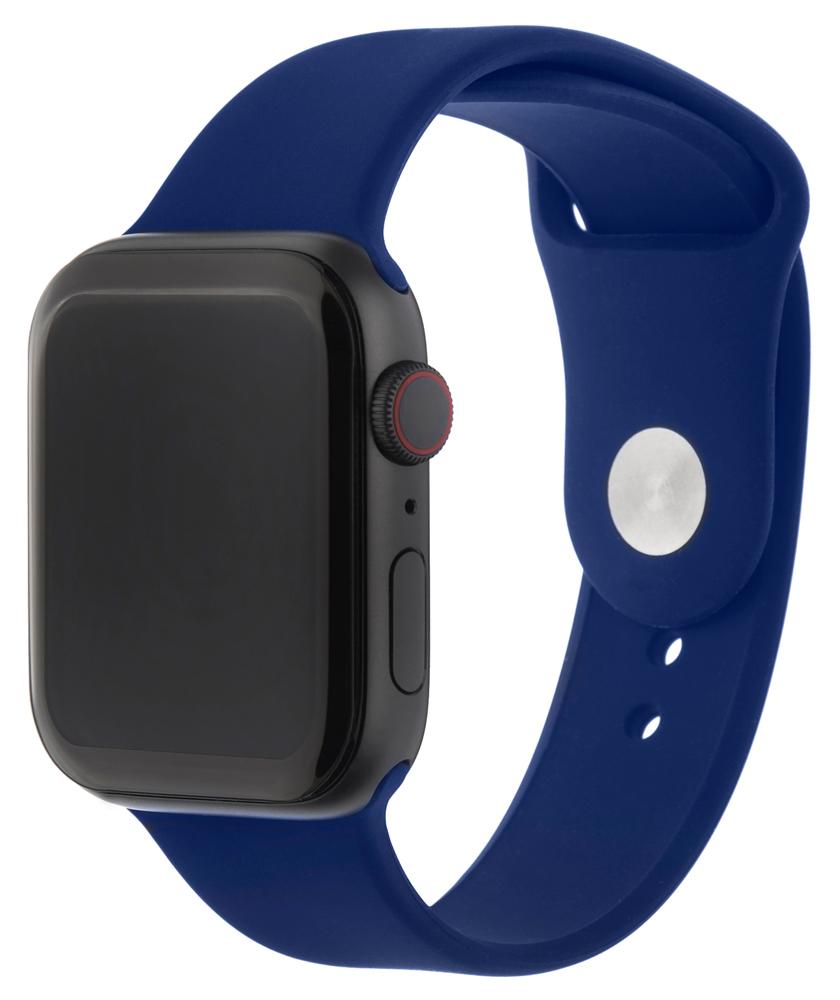 Ремешок для умных часов InterStep Sport Apple Watch 42/44мм силиконовый Blue фото