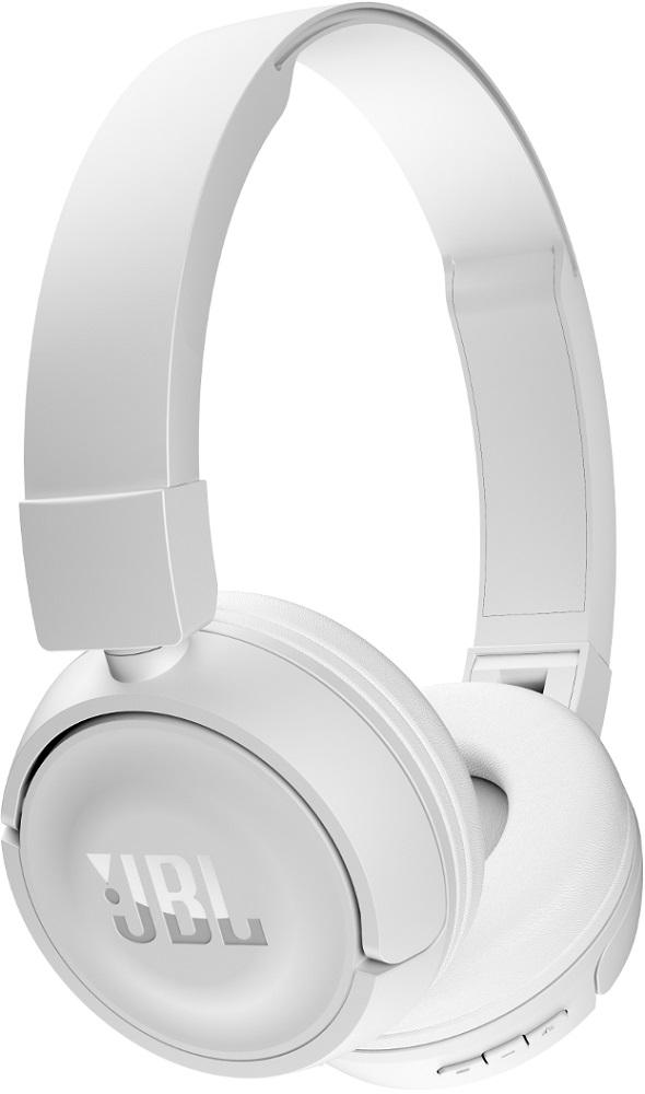 Беспроводные наушники с микрофоном JBL Bluetooth T450BT накладные White цена и фото