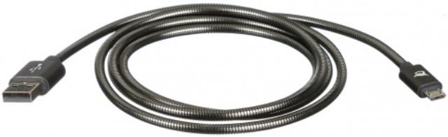 Дата-кабель Elray ABMBC12GR USB-microUSB 1,2м металлическая оплетка Grey line5 m303 computer high quality digital usb coaxial optical decoder grey
