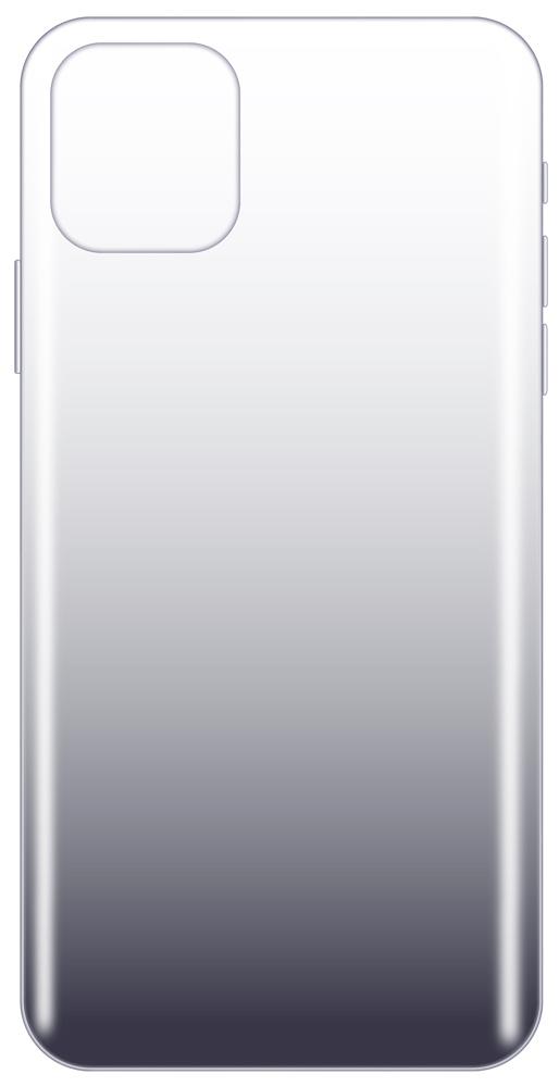 Клип-кейс LuxCase iPhone 11 Pro Max прозрачный градиент Black фото