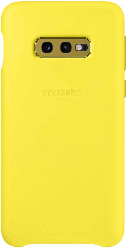 Клип-кейс Samsung Galaxy S10e EF-VG970L кожа Yellow клип кейс samsung dual layer ef pj330 для galaxy j3 2017 голубой