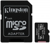 фото Карта памяти MicroSDHC Kingston Canvas Select Plus 128Gb Class10 с адаптером Black