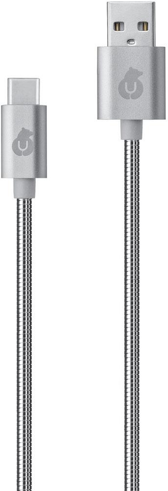 Дата-кабель uBear Force USB-Type-C 1м металлическая оплетка Silver ubear кабель юсб светло голубой dc02lb01 i4