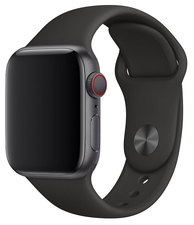 Ремешок для умных часов Everstone ES-AWBS-103 Apple Watch 38/40мм силиконовый Black