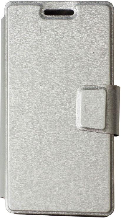 цена на Чехол-книжка OxyFashion SlideUP универсальный размер S 3,5-4,3 Silver