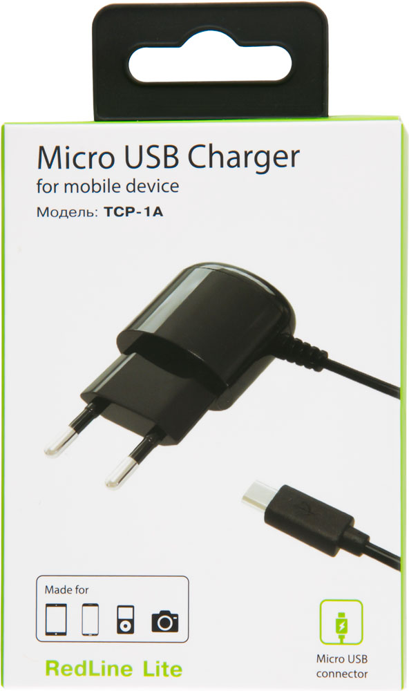 СЗУ RedLine microUSB 1A Black автомобильное зарядное устройство partner 2 1a microusb usb черный пр033116