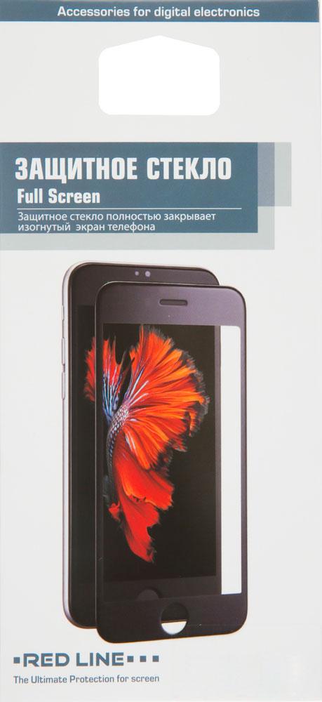 Стекло защитное RedLine для iPhone 7/8 3D Full Screen белая рамка прозрачное стекло защитное rockmax iphone xr 3d черная рамка