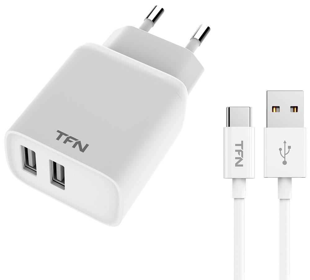 СЗУ TFN Rapid 2.4А + кабель Type-C White фото