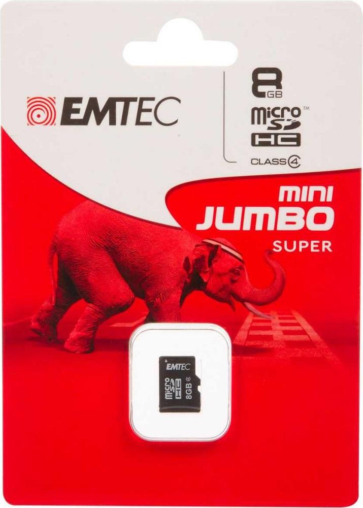 Карта памяти MicroSDHC Emtec 8Gb Class 4 без адаптера все цены