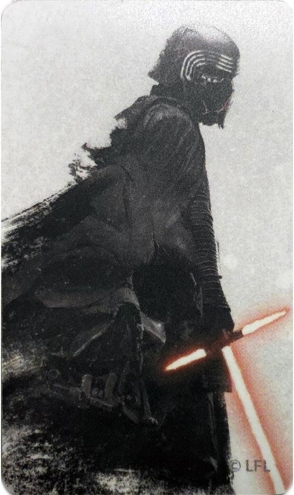 Вкладыш Тройка с чипом Звездные воины Кайло Рен с мечом принт фото