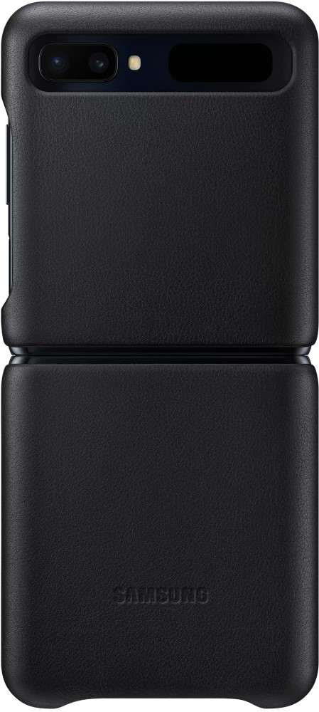 Клип-кейс Samsung Galaxy Z Flip Leather Cover Black (EF-VF700LBEGRU)