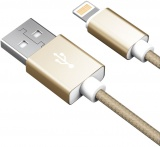 фото Дата-кабель Akai CBL203 USB-Apple Lightning 1м Gold