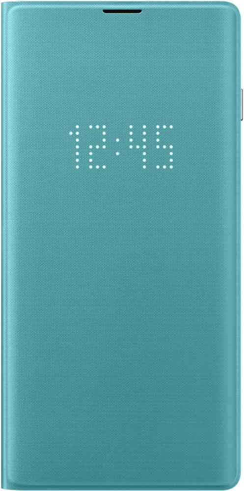 Чехол-книжка Samsung Galaxy S10 EF-NG973P LED View Green аксессуар чехол для samsung galaxy s10 plus led view cover green ef ng975pgegru