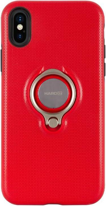 Фото - Клип-кейс Hardiz Apple iPhone X с кольцом Red видео