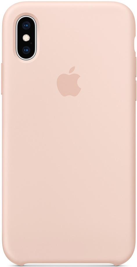 Клип-кейс Apple iPhone XS силиконовый MTF82ZM/A Pink клип кейс apple iphone xs силиконовый mtf92zm a blue