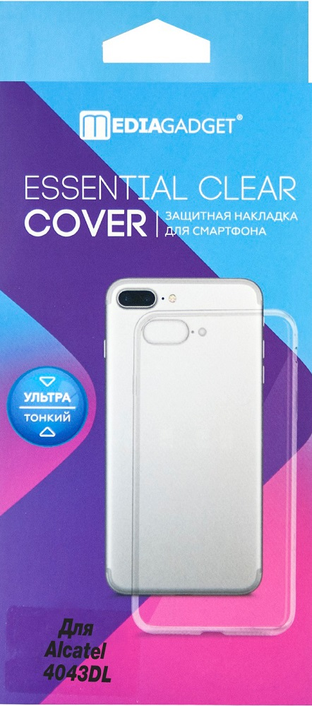 Клип-кейс MediaGadget Alcatel 4034DL прозрачный