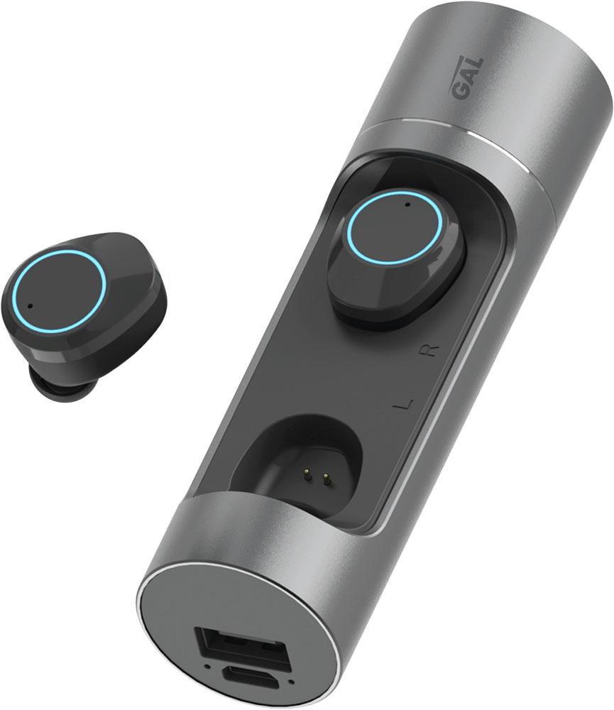 Беспроводные наушники с микрофоном Gal TW-8000 TWS Black фото
