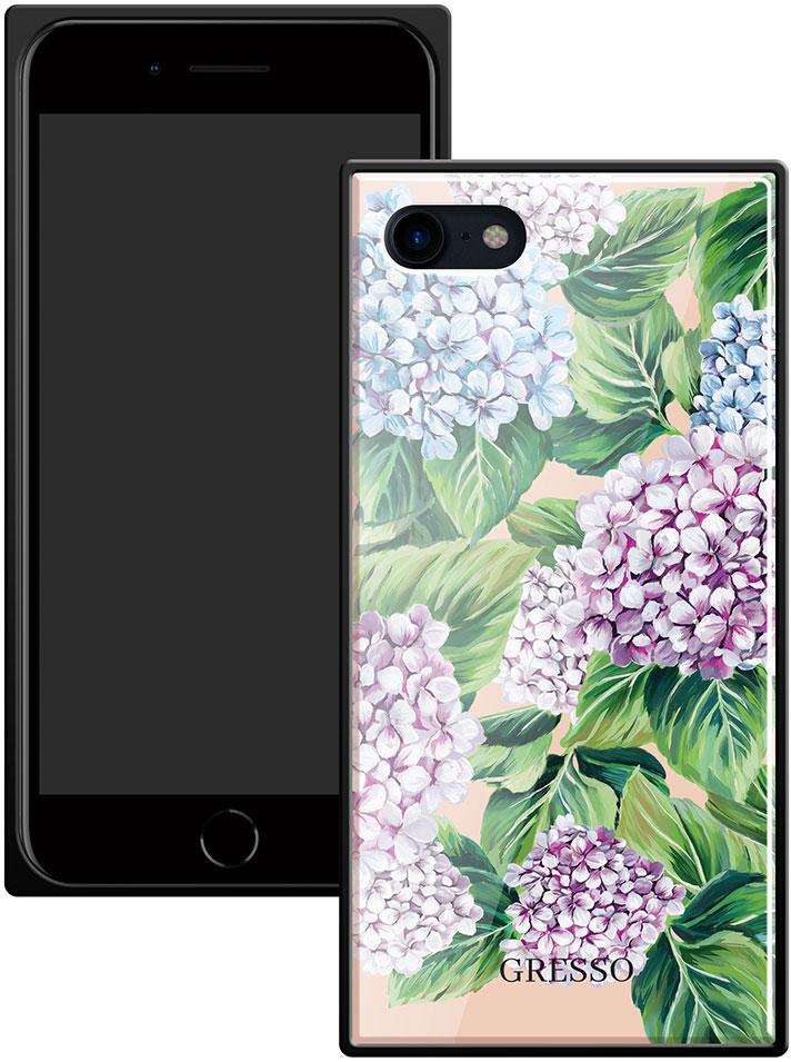 Клип-кейс Gresso Glass Apple iPhone 8/7 прямоугольный цветы клип кейс gresso glass edge для apple iphone xs тессера