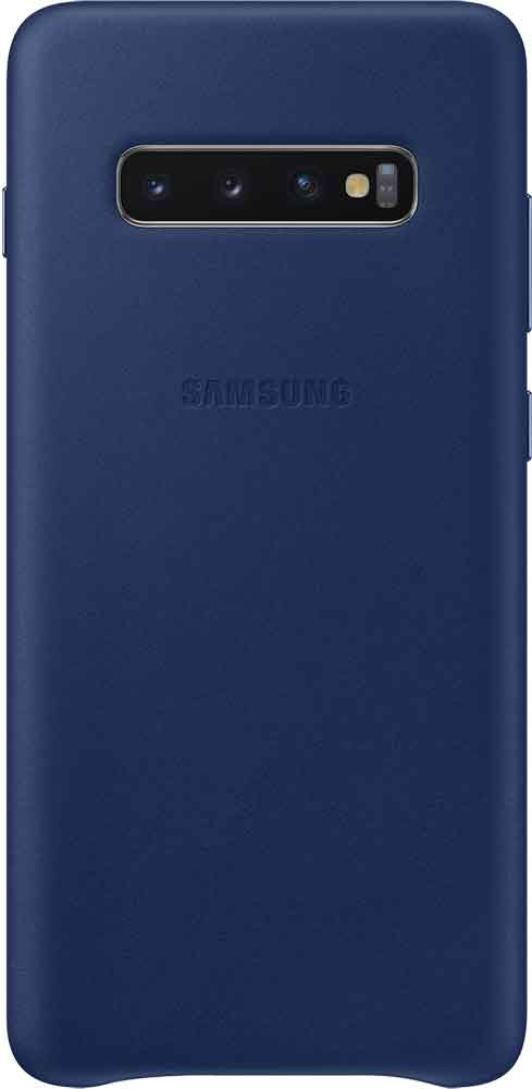 Клип-кейс Samsung Galaxy S10 Plus EF-VG975L кожа Navy