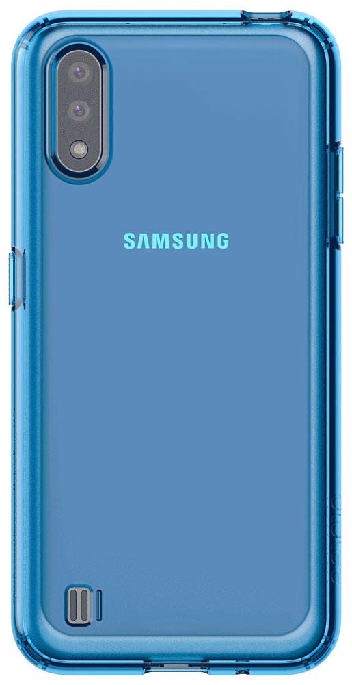 Клип-кейс Araree Samsung Galaxy A01 Blue (GP-FPA015KDALR) фото