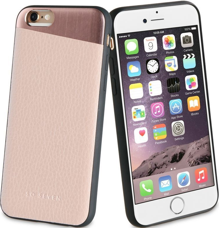 Клип-кейс So Seven Apple iPhone 8 кожа Pink чехол so seven carrare для apple iphone x green