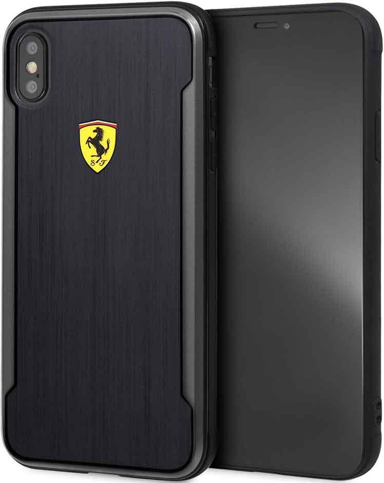 Клип-кейс Ferrari iPhone ХS Max пластик под карбон Black al 3602 agility pro с покрытием под карбон