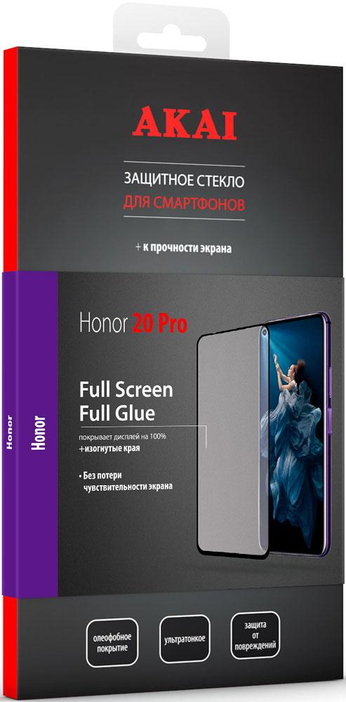 цена Стекло защитное Akai Honor 20 Pro 2.5D черная рамка онлайн в 2017 году