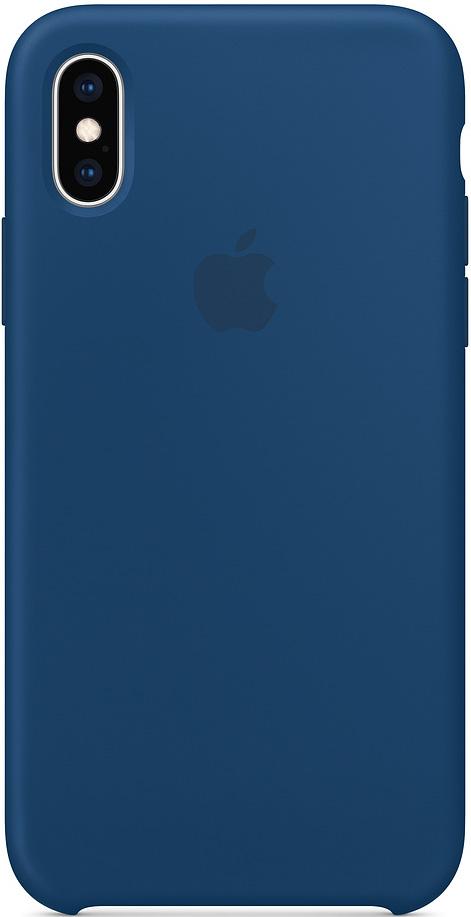 Клип-кейс Apple iPhone XS силиконовый MTF92ZM/A Blue фото