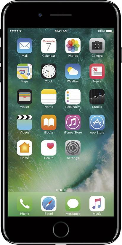 Смартфон Apple iPhone 7 Plus 32GB Jet Black (MQU72RU/A)