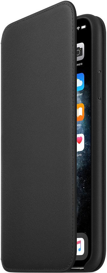 Чехол-книжка Apple iPhone 11 Pro Max MX082ZM/A кожаный Черный фото