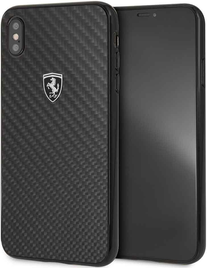 Клип-кейс Ferrari iPhone ХS Max карбон Black фото