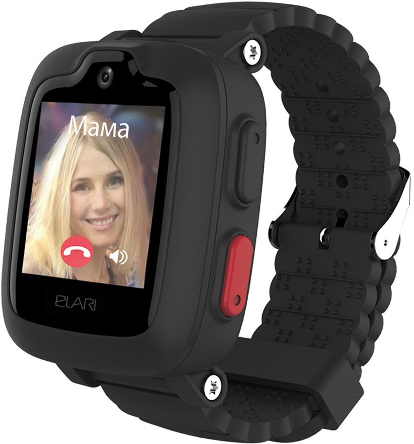 Детские часы Elari Kidphone 3G с голосовым помощником Black фото