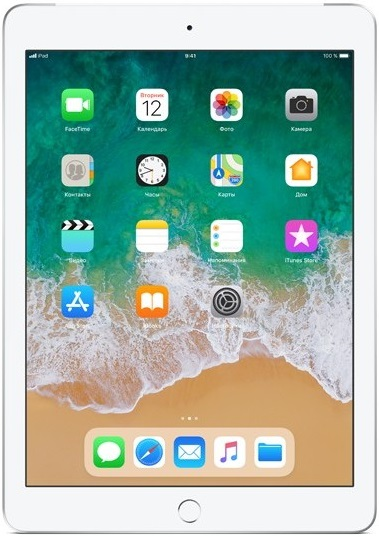 "Планшет Apple iPad 2018 9.7"" 128Gb Wi-Fi Silver (MR7K2RU/A)"