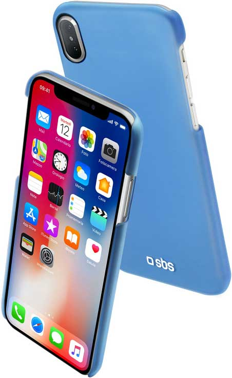 Клип-кейс SBS Apple iPhone X тонкий пластик Blue клип кейс matchnine apple iphone x жидкий камень blue