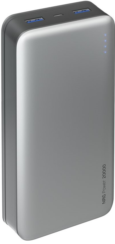 Внешний аккумулятор Deppa NRG Power 20000 mAh 2.1A 2USB графит чехол аккумулятор deppa nrg case 2600 mah для iphone 7 белый 33520