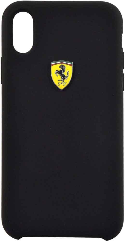 Клип-кейс Ferrari для iPhone XS силикон Black клип кейс bmw iphone xs max силикон black