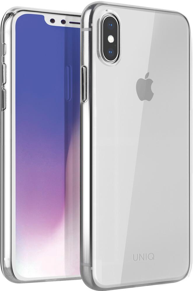 лучшая цена Клип-кейс Uniq Apple iPhone XS Max тонкий пластик позрачный