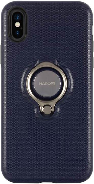 Фото - Клип-кейс Hardiz Apple iPhone X с кольцом Blue объектив