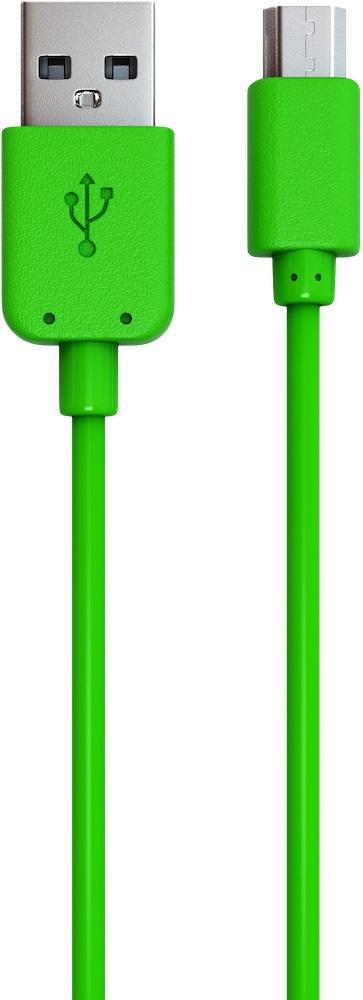 Дата-кабель RedLine USB - micro USB green