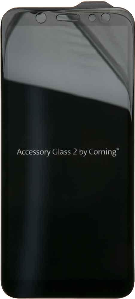 Стекло защитное RedLine Corning для Samsung Galaxy A6 3D черная рамка фото