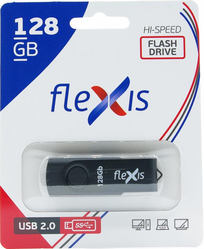 usb flash flexis rb 108 16gb usb2 0 silver USB Flash FLEXIS RB-103 128GB USB2.0 Black