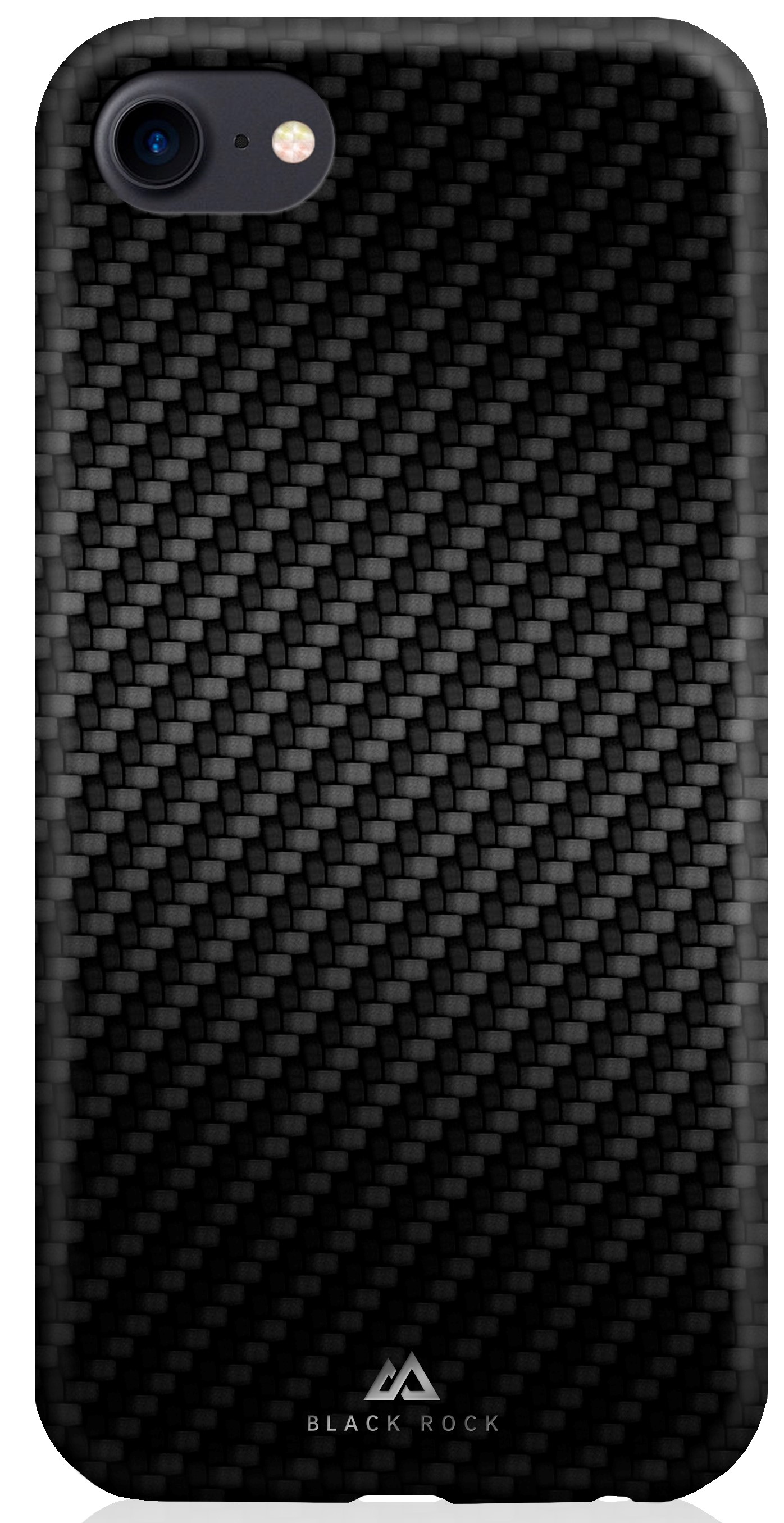 Клип-кейс Black Rock для Apple iPhone 8 карбон black клип кейс black rock apple iphone 8 7 6 6s real carbon black