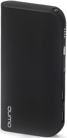 Внешний аккумулятор Qumo PowerAid 15600 mAh Black аккумулятор nobby comfort 019 001 15600 mah 2xusb 2 1a graphite 09353