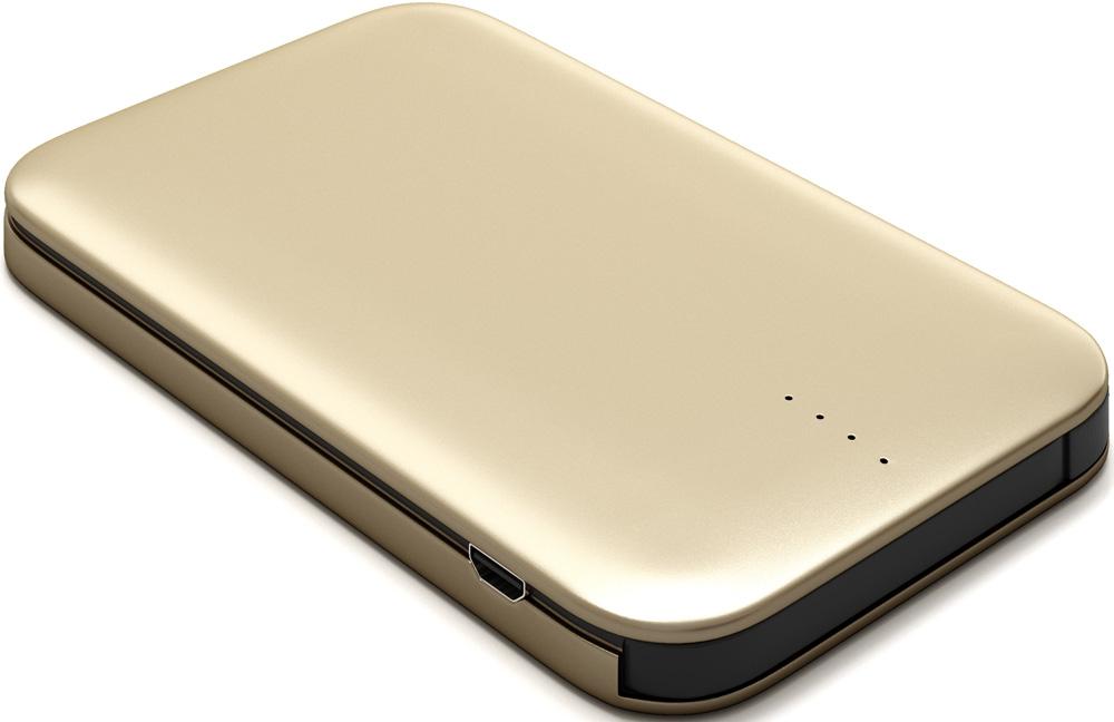 Внешний аккумулятор RedLine B8000 8000 mAh металл Gold аккумулятор yoobao 10200 mah yb 6013pro gold