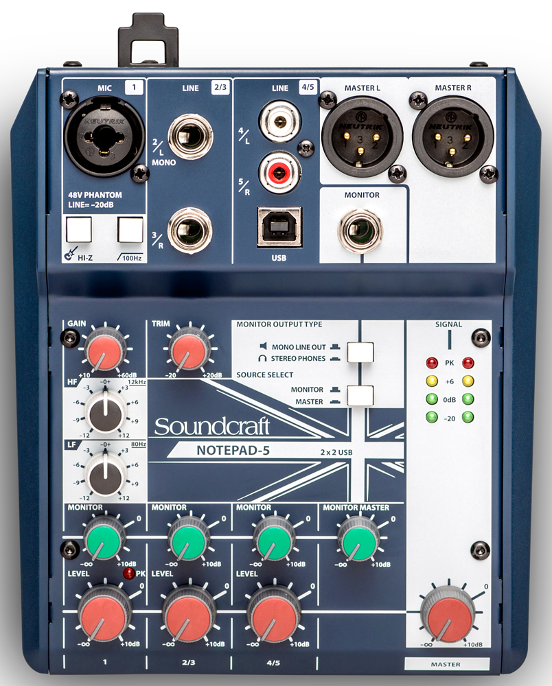 Микшерный пульт Soundcraft Notepad-5 (5085980EU) фото