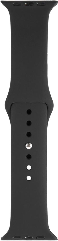 Ремешок для умных часов RedLine Apple Watch 38/40мм силиконовый Black фото 2