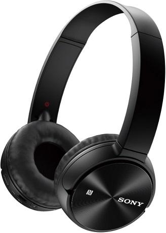 Беспроводные наушники  микрофоном Sony MDR-ZX330BT Black