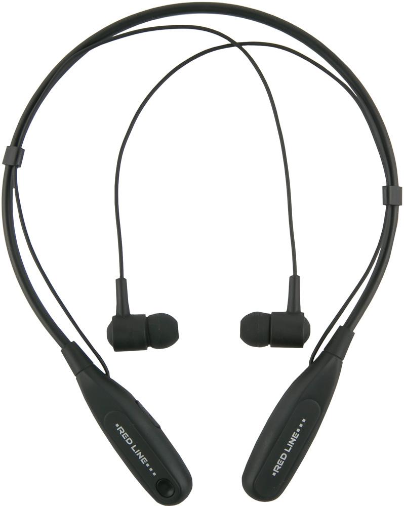 Беспроводные наушники с микрофоном RedLine Bluetooth BHS-09 с ободом Black фото